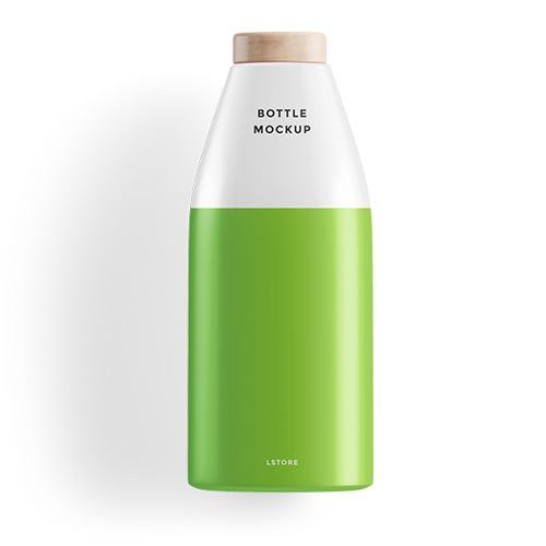 Bottle for gift green