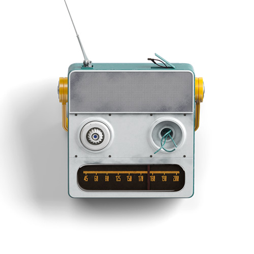 Steel radio with blue color for office